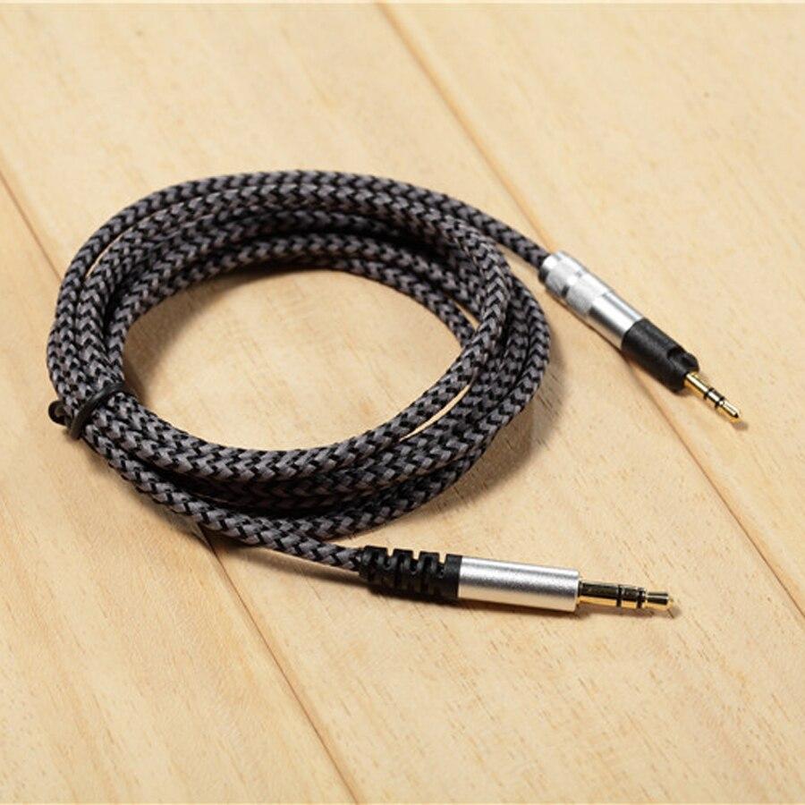 Cabo de substituição para sennheiser hd598 hd558 hd518 hd 598 fone de ouvido fone de ouvido 3.5mm a 2.5mm estéreo baixo cabos áudio