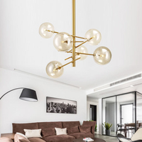 Europe Modern Creative Glass Pendant Light magic beans Glass Bubbles Study Livingroom Restaurant Cafe Decoration Lamp