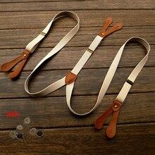 Fashion Mens Solid Braces Unisex Adjustable Six Button Holes Suspenders Adult Belt Strap Braces For Wedding Party BDXJ2536