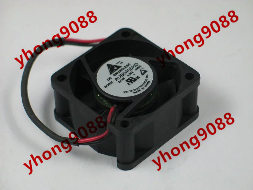 Free Shipping For Delta AUB0405HD DC 5V 0.38A 2-wire 2-pin connector 40X40X20mm Server Square Cooling Fan free shipping for delta aub0512lb cp54 dc 12v 0 11a 2 wire 2 pin connector 70mm 50x50x15mm server square cooling fan