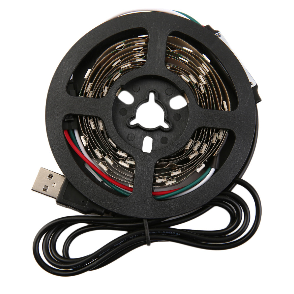 WS68 12 RGB 5050 SMD LED Strip Non Waterproof Flexible LED Tape Light USB 5V Decor Strip Light Super Deal! Inventory Clearance