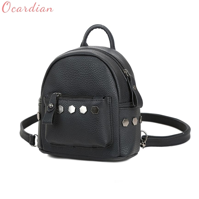 d7f05935d935 Backpack New Brand And Hot Sales Fashion Women Good Quality Rivet School  Backpacks Leather Backpack Mochila 17Apr25