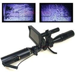 Mejor tirador caza al aire libre vista óptica táctico Riflescope linterna infrarroja con visión nocturna LCD para alcance