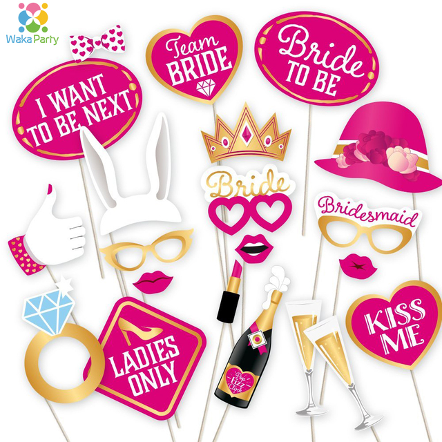 Fun Bachelorette Party Photo Booth Props Kits S Hen Night Out Wedding Do Decoration