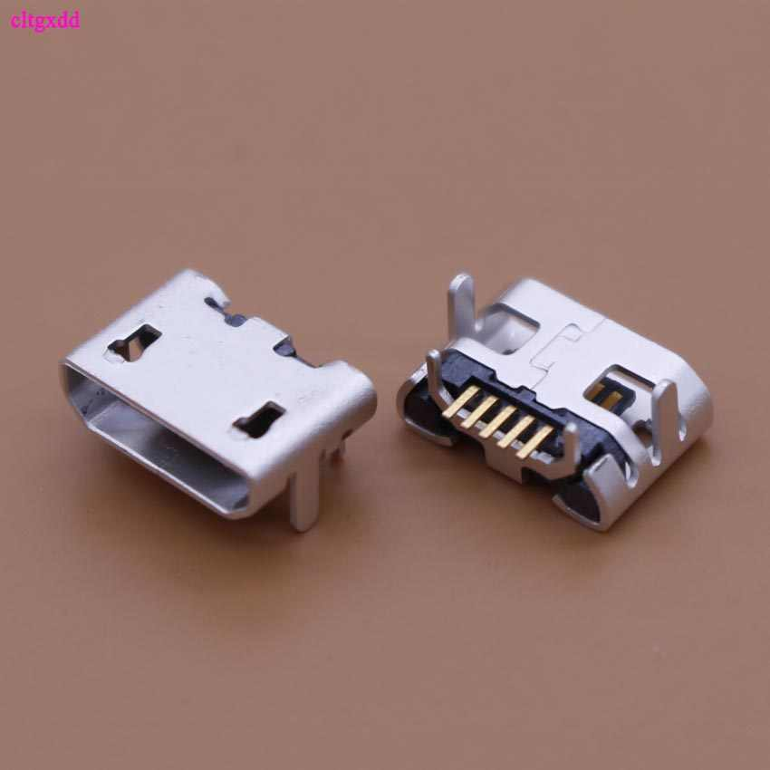 clgxdd 10PCS Micro USB Data Type B Female 4Legs 5Pin SMT SMD Socket DIP Soldering Connector Jack Plug Flat mouth hot sales