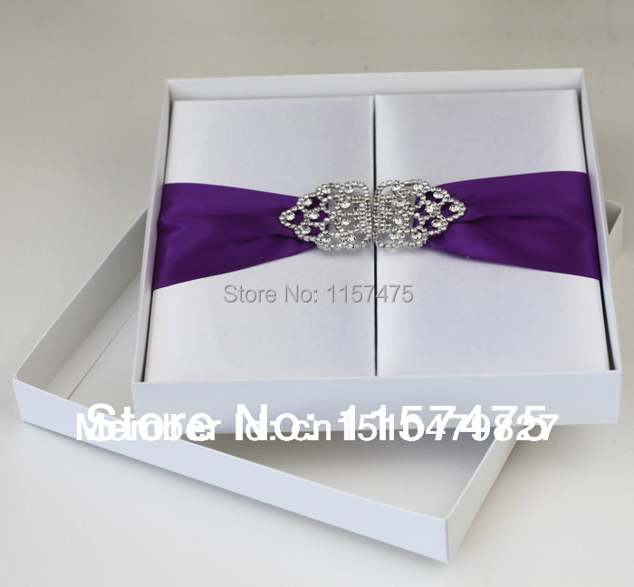Hi2002 Hot Silk Wedding Invitation Box With Rhinestone Brooch In Cards Invitations From Home Garden On Aliexpress Alibaba Group