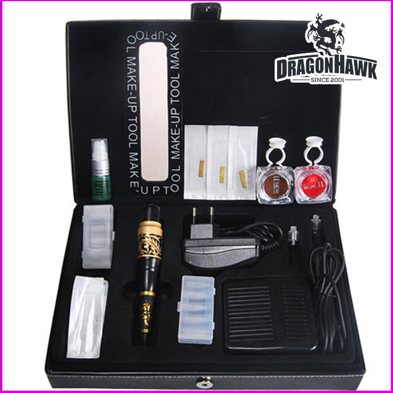 Permanent Makeup Kit Tattoo Eyebrow Lip Machine Equipment Supplies 35000r import permanent makeup machine best tattoo makeup eyebrow lips machine pen