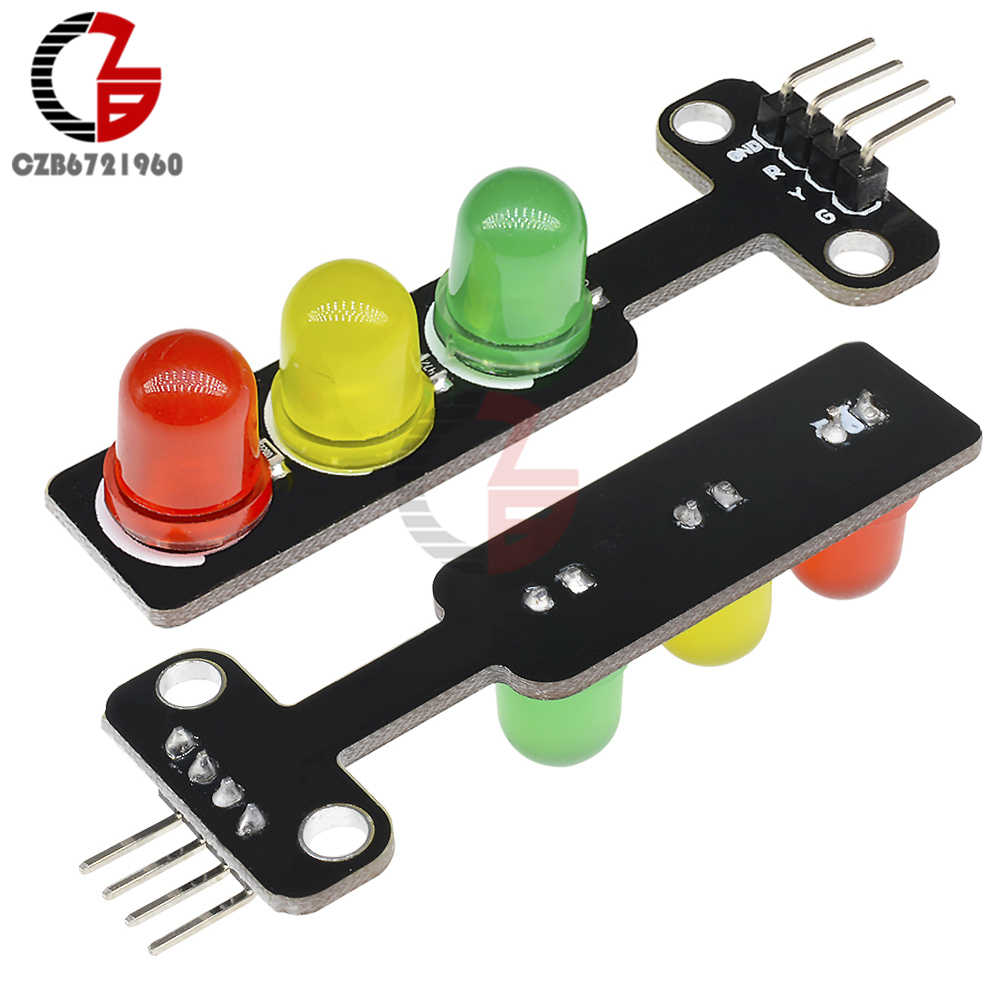 Mini Módulo de semáforo LED de 5V CC 5mm rojo amarillo verde Color pantalla LED para Arduino