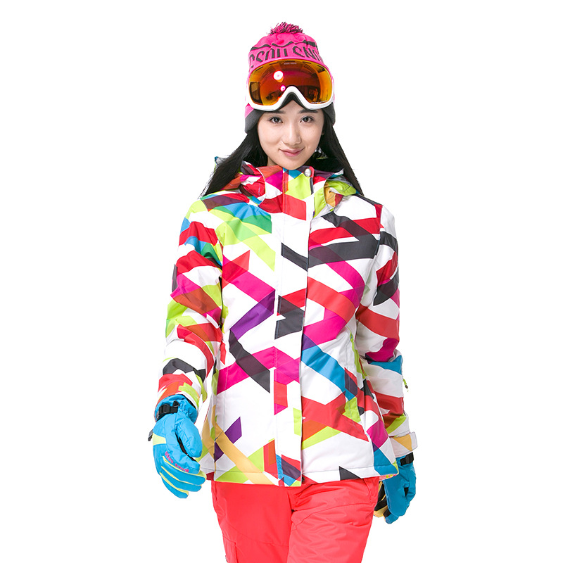 Gsou Snow Ski Jacket Women Outdoor Sport Wear Snowboard Sportswear Waterproof Windproof Breathable Ski Jackets