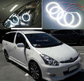 For TOYOTA WISH 2005 2006 2007 2008 2009 Excellent led angel eyes Ultrabright illumination smd led Angel Eyes Halo Ring kit