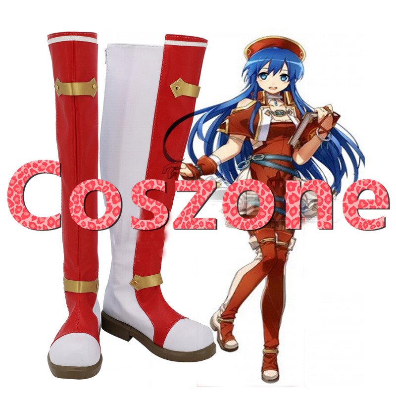 Fire Emblem Sealed Sword Lilina Cosplay Shoes Boots Halloween Cosplay Costume Accessories