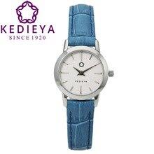 Kedieya бренд шарм 5 цвета из натуральной кожи водонепроницаемый женщины кварцевые часы сине бело черный розовый