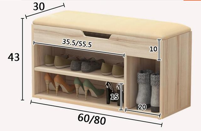 Multifunctional Shoes Rack Living Room Cabinet Storage Stool