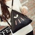 2016 nuevas chicas de Hombro Bolsos Mujeres Messenger Bags moda estilo coreano del bolso de crossbody bolsa de viaje PU bolsa de Triángulo