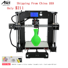 Anet A6 3d Printer Printing Speed 120MM/S DIY Desktop Kit 3d Printer Machine With Z Axis Positioning Accuracy 0.004MM Filament wanhao d5s mini desktop 3d printer with high performance and accuracy industrial level with printing size 290 190 190mm