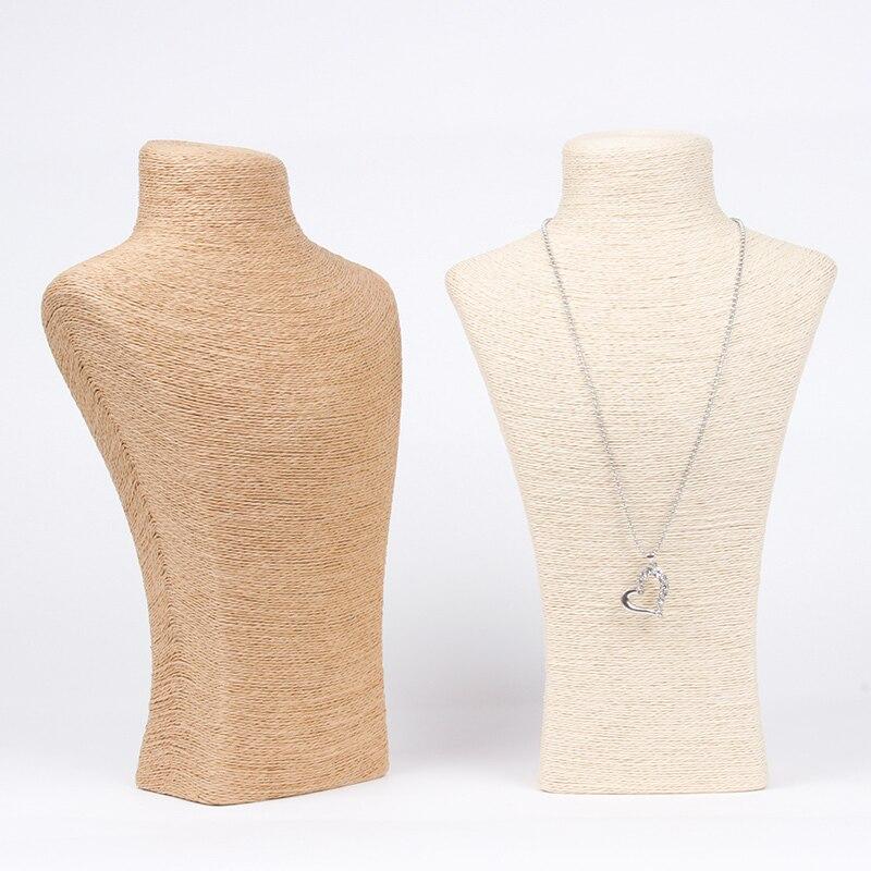 Wholesale Necklace Pendant Linen Burlap Chain Link Jewelry