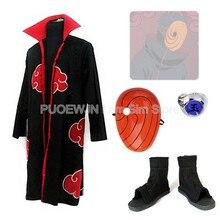 2014 new anime Uzumaki Naruto Cosplay Costume Akatsuki Obito Uchiha cosplay costume  man and women Whole Set