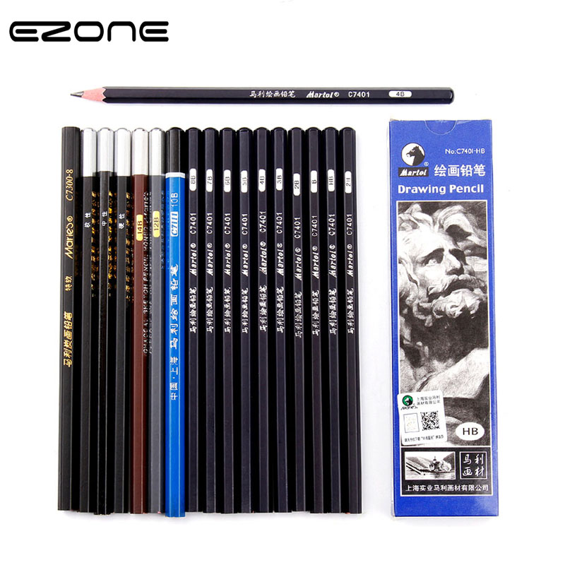 EZONE B/2B/38/4B/5B/6B/7B/8B/10B/12B/14B Different Size Pencil Professional Sketch Pen For Painting Graffiti Students Stationery