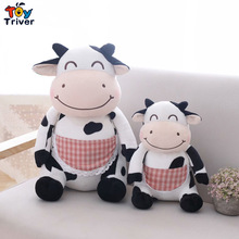 Plush Cow Toy Stuffed Cattle Doll Milk Dairy Cows Baby Kids Girl Children Pet Puppy Birthday Christmas Gift Home Shop Decor цена