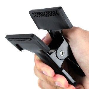 Image 2 - 多機能 50 センチメートル柔軟なマジックアーム + 2 強力な鉄背景ホルダークランプ反射クリップカメラフォトスタジオアクセサリー
