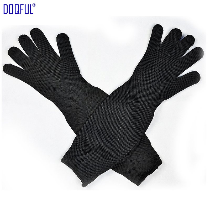 Safety Work Stabproof Gloves Lengthening Workplace Long Glove Anti Cut Stainless Steel Wire Self Defence Protective Arm Hand