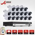 ANRAN 16CH CCTV Camera System 1080N AHD DVR Kit 720P 1800TVL IR Weatherproof Outdoor Camera Home Surveillance Camera Email Alarm