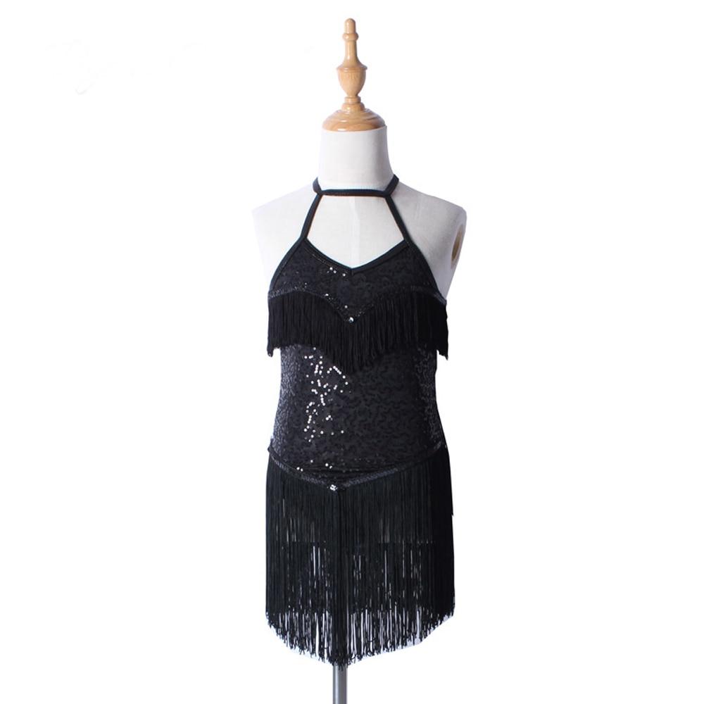 a65d796b7838d Robe De Danse latine Costumes Pour Femmes Filles Professionnel Jupe Noir  Rouge Vêtements Robes de Da Ballo Latino Americano Par Donna