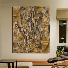 Pablo Picasso Still Life With A Bottle Of Rum Canvas Painting Living Room Home Decoration Modern Wall Art Oil Poster HD