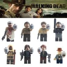Single sale The walking dead Daryl Carol Glenn Dixion DIY Dolls lePIN Movies mini dolls Building