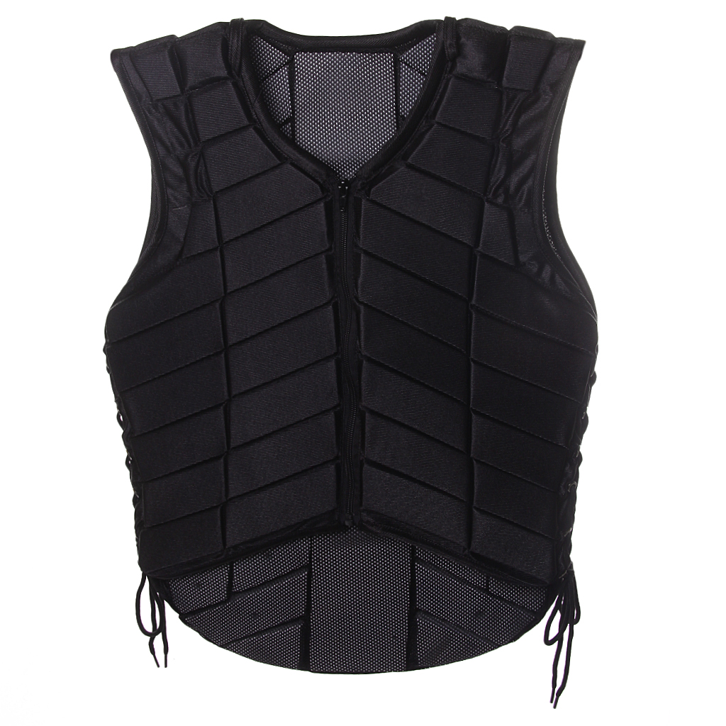 Safety Equestrian Horse Riding Vest Protective Body Protector Black Adult Sportswear Camping Hiking Accessories Shock Absorption safety equestrian horse riding vest protective body protector navy adult s breathable vest waistcoat camping hiking accessory