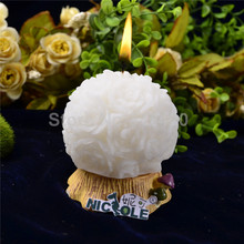 Фотография Nicole LZ0003 best 3D flower ball soft silicone candle molds candle craft moulds