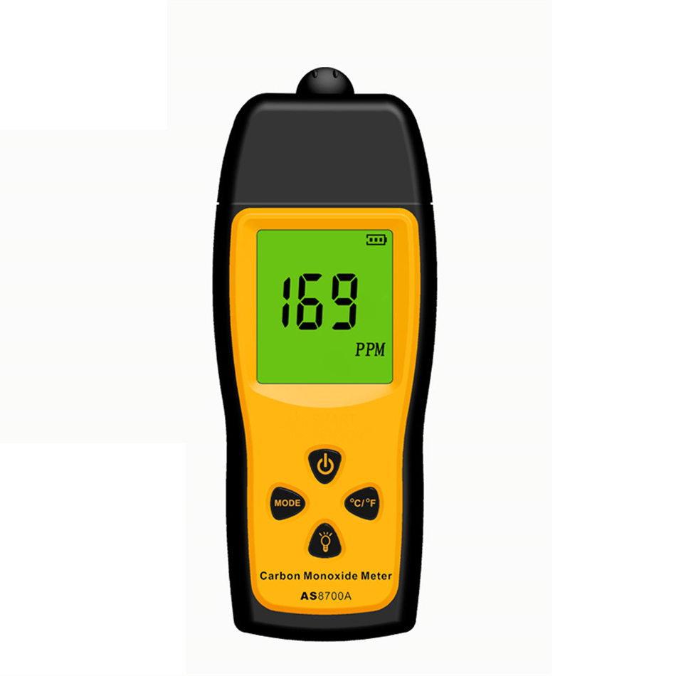 Handheld Carbon Monoxide Meter High Precision Portable CO Gas leak Detector Gas Analyzer Range 1000ppm detector de gas AS8700A gm8805 portable handheld carbon monoxide meter high precision co gas detector analyzer measuring range 0 1000ppm detector de gas