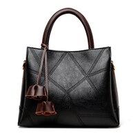 Women Business Shoulder Bag Large Capacity Ladies Casual Handbag Fashion Messenger Bags with Flower Ladies Leather Handbags New