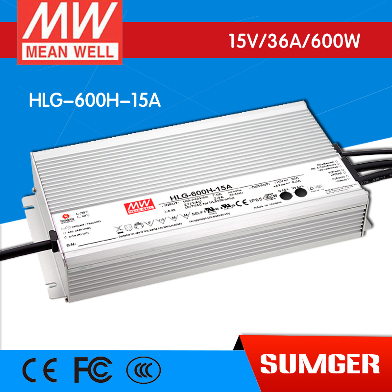 1MEAN WELL original HLG-600H-15A 15V 36A meanwell HLG-600H 15V 540W Single Output LED Driver Power Supply A type 1mean well original hlg 120h 15d 15v 8a meanwell hlg 120h 15v 120w single output led driver power supply d type