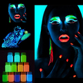Rosto Corpo Pele Maquiagem Pintura Luminosa Fase Festa Brilham no Escuro Tinta Em Pó