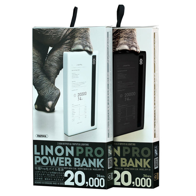 REMAX 20000mah Dual USB Power Bank Portable External Battery Universal Mobile Phone Charger Powerbank for Phones Tablets