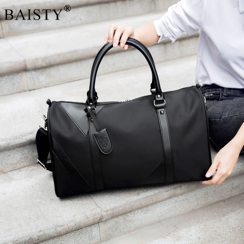 Men Travel bags Fashion Nylon Big Travel Handbag Folding Trip Bag Large Capacity Luggage Travel Duffle Bags Men Business Handbag стоимость