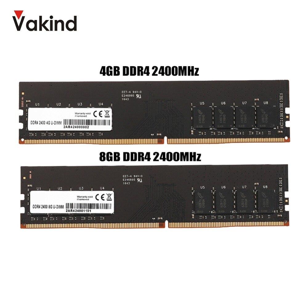 4 gb 8 gb DDR4 2400 mhz PC RAM Mémoire DIMM Bureau Ram RAM De Mémoire Interne Pour Ordinateur Jeux Ram soutien Mère ddr4