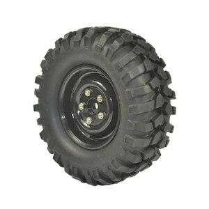 Image 2 - 4 шт. 96 мм шины RC 1/10 внедорожный автомобиль пляж Рок Гусеничные Шины колеса обод
