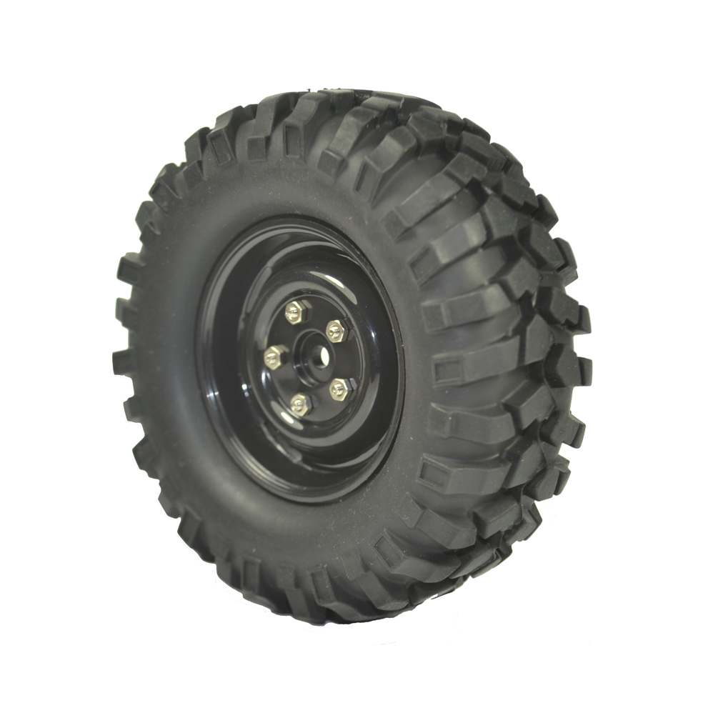 Image 2 - 4PCS 96mm Tyre RC 1/10 Off Road Car Beach Rock Crawler Tires Wheels Rim-in Parts & Accessories from Toys & Hobbies