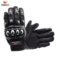 WOSAWE Stainless Steel Cycling Gloves Touch Screen Racing Motorbike Luvas Sports Shockproof Off road Gloves Guantes Ciclismo