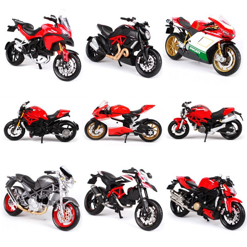 Maisto 1:18 Motorcycle Toy Model Alloy Motorbike Monster 696 1098S Scrambler 1199 Panigale Multisttrada Collection Adults Toys