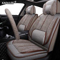 KADULEE luxury FLAX car seat cover For ford focus mk1 fiesta mk7 alfa romeo giulietta chevrolet lacetti audi a3 sportback seats