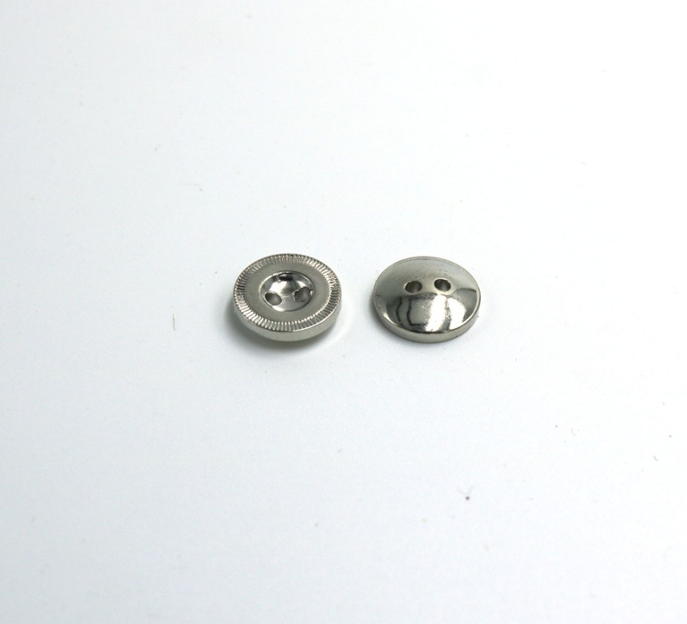 11mm plastic Sewing Button Metal Buttons Round Antique silver 2 Holes Cadmium Free 100pcs