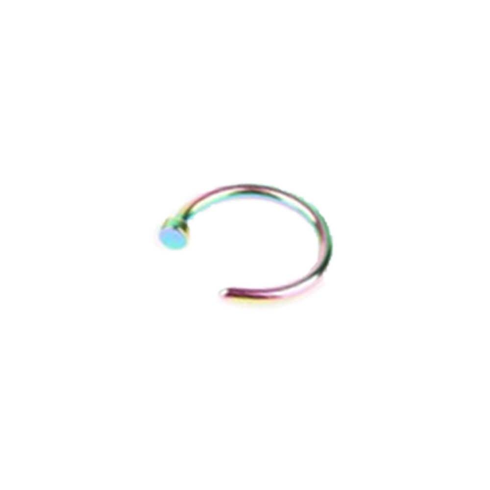 1 قطعة U شكل وهمية الأنف الدائري هوب الحاجز خواتم الفولاذ المقاوم للصدأ الأنف ثقب وهمية ثقب المجوهرات Oreja pirpping