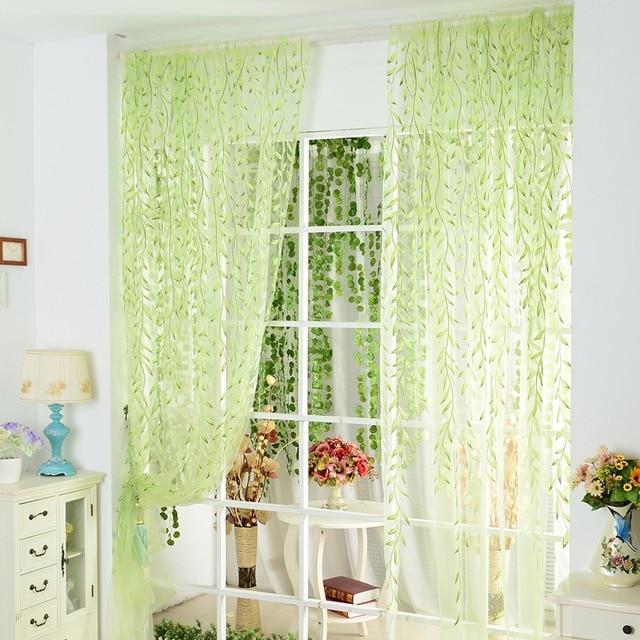 ISINOTEX-rideau en Voile de fenêtre de pièce Chic | Panneau imprimé, rideaux et écharpes en Tulle, 1 pièce/lot
