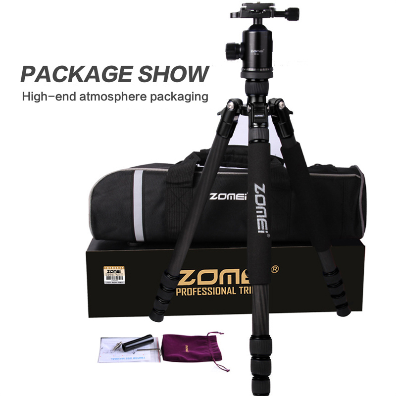 Zomei Z888C Professional Portable Carbon Fiber Tripod Stand with Ball Head Compact Travel -10