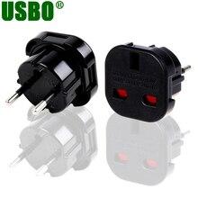 Universal black copper 10A 250V ABS mobile phone charger converter US EU Uk to eu Adaptor plug 10pcs free shipping