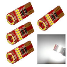 4 pçs de alta qualidade 15 smd t10 w5w led 4014 carro lado marcador luz lâmpada canbus nenhum erro frete grátis interior novo