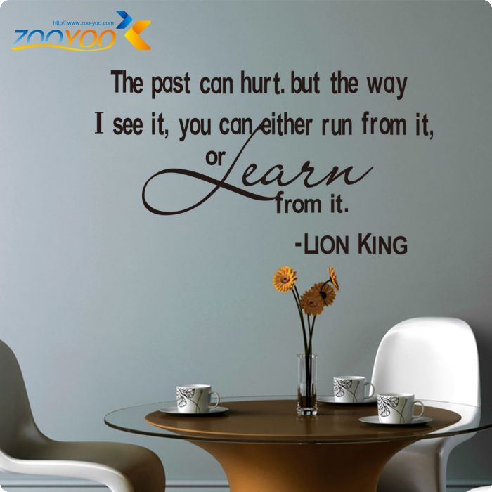 U0026 THE PAST CAN HURT Lion King Wall Decals Designs The Past Can Hurt  Removable Vinyl Wall Stickers Home Decor Wall Art Decals In Wall Stickers  From Home ...
